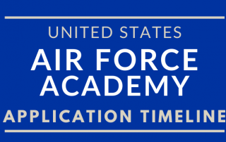 Blog Title Graphic for the Air Force Academy Application Timeline