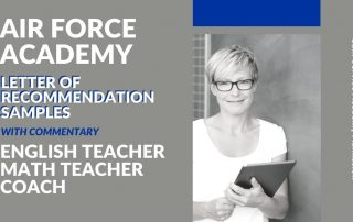 Air Force Academy Letters of Recommendation Samples Blog Post Title Graphic