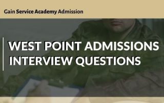 West Point Admissions Interview Questions Blog Post Title Graphic