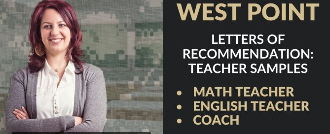 West Point Admissions Letters of Recommendation Blog Post Graphic