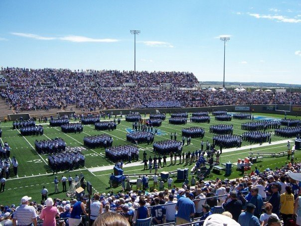 Photo of Air Force Academy Leadership during Football March On