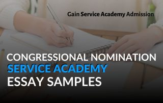Congressional Nomination Service Academy Essay Samples Blog Post Graphic