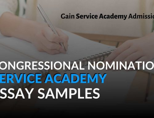 Congressional Nomination Service Academy Essay Samples
